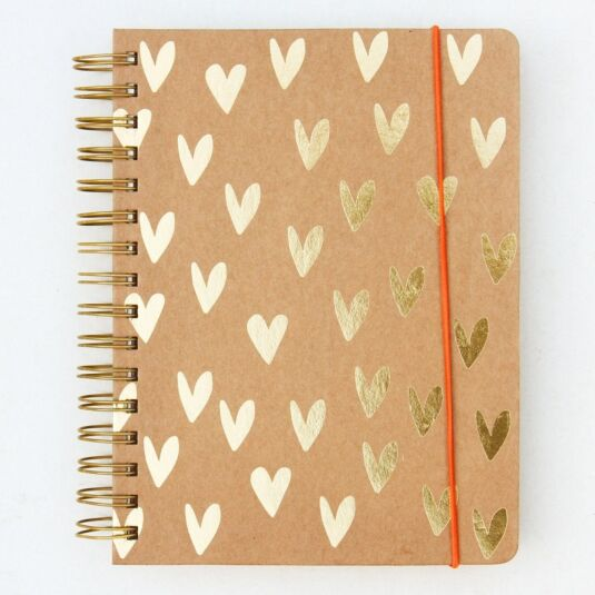 Gold Kraft Hearts Ultimate Organiser