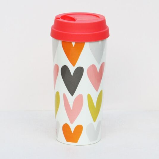 Hearts Thermal Travel Mug