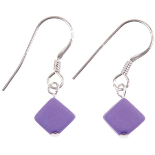 Pastel Cubic Purple Earrings
