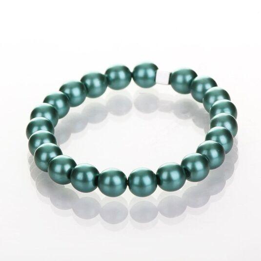 Teal Harmony Pearl Bracelet