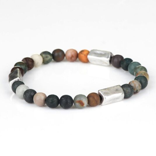 Beach Pebble Agate Bracelet