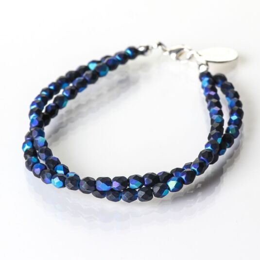 Blue and Black Twists Bracelet