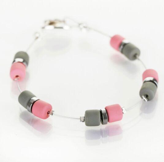 Pink Grey Earthtones Bracelet