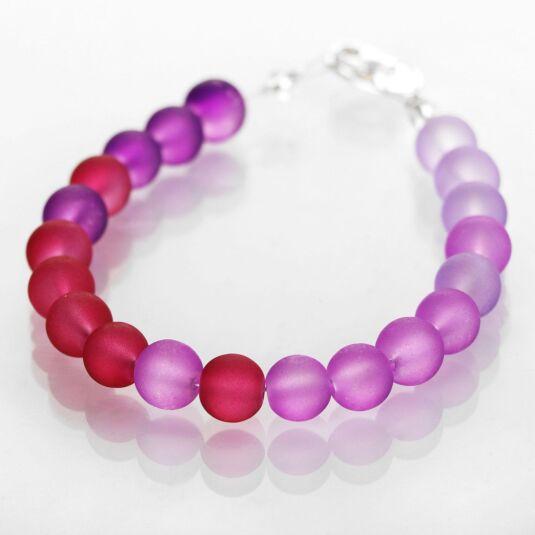 Purples Frosted Galaxy Bracelet