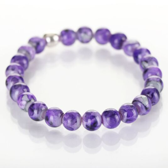 Purple Marbled Bracelet