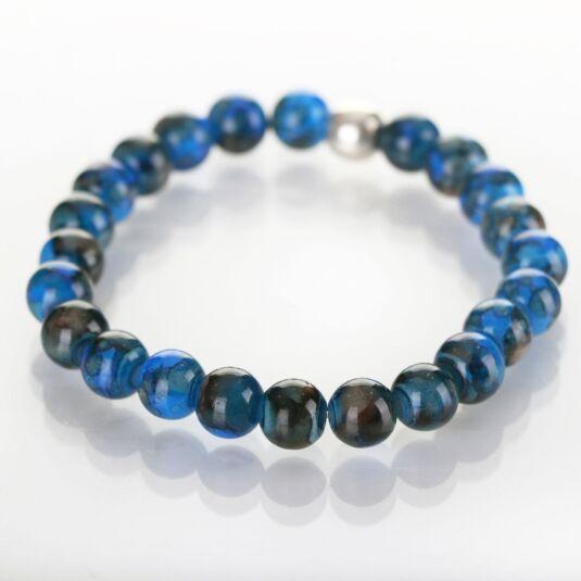 Cobalt Marbled Bracelet