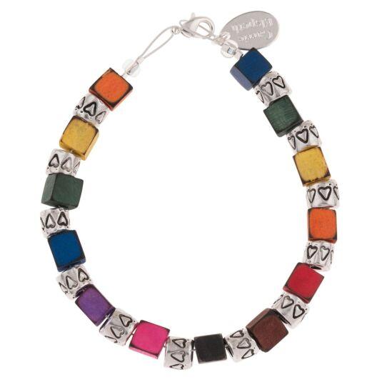 Rainbow Cubes & Drums Bracelet