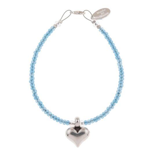 Blue Heart Strings Bracelet