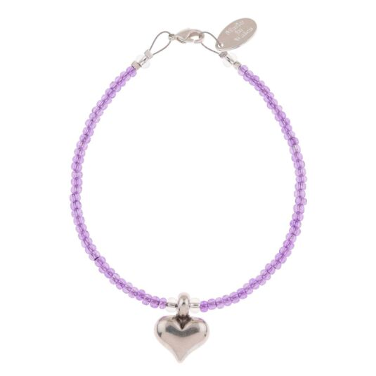 Lilac Heart Strings Bracelet