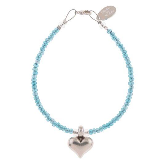 Teal Heart Strings Bracelet