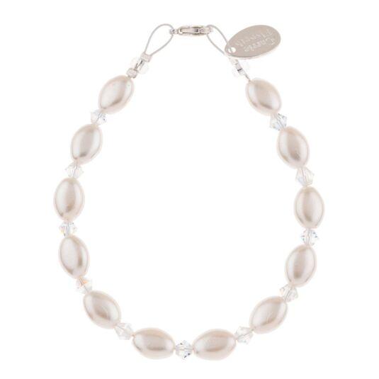 Ivory Pearl & Crystal Bridal Bracelet