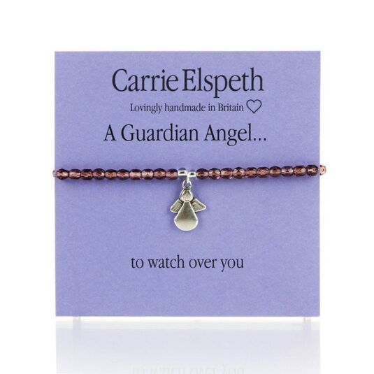 A Guardian Angel Purple Sentiment Bracelet