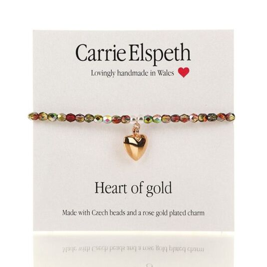 Heart of Gold Sentiment Bracelet