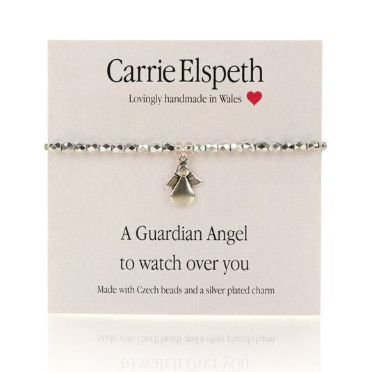 A Guardian Angel Sentiment Bracelet