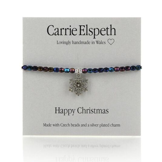 Happy Christmas Sentiment Bracelet