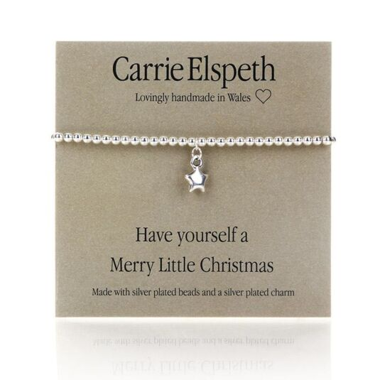 'Have yourself a Merry Little Christmas' Sentiment Bracelet