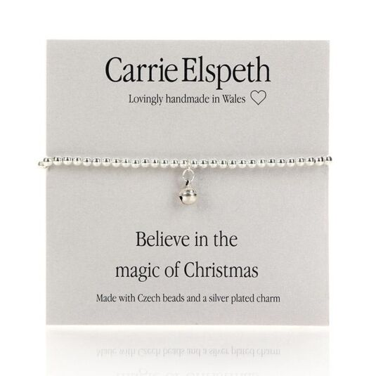 'Believe in the magic of Christmas' Sentiment Bracelet
