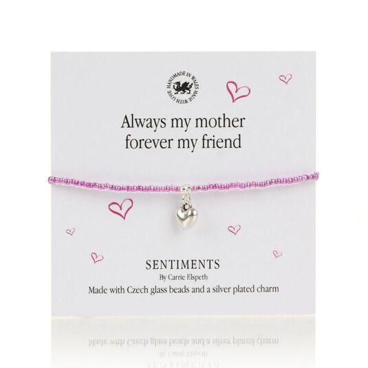 Always my Mother Sentiments Bracelet
