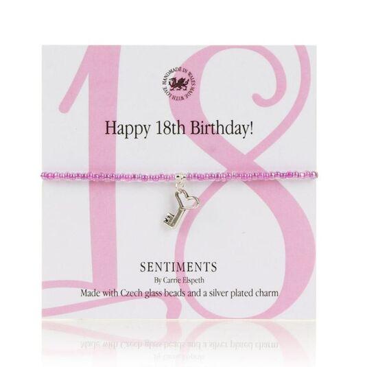 Happy 18th Birthday! Sentiments Bracelet