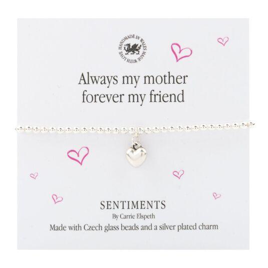 'Always My Mother' Sentiments Bracelet