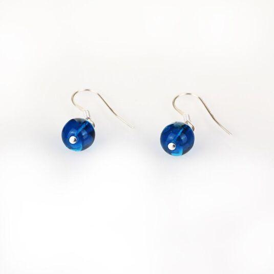 Rainbow Galaxy Blue Earrings