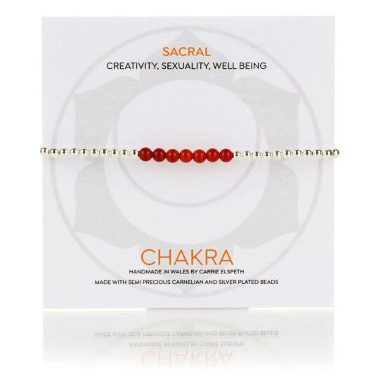 Sacral Chakra Beaded Bracelet