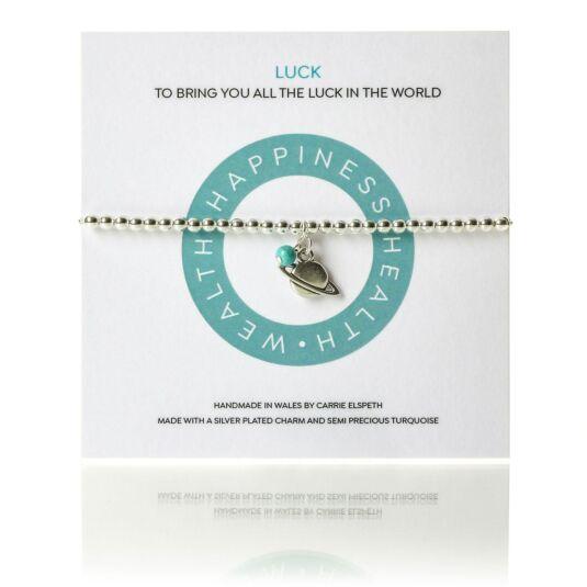 50962a13bccca Carrie Elspeth Luck Mantra Bracelet