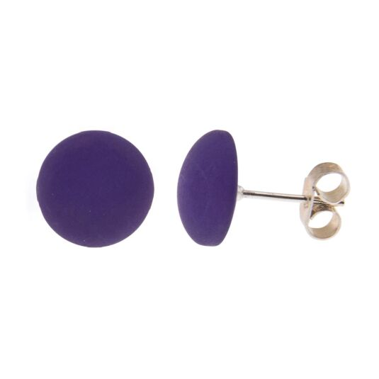 Purple Polaris Stud Earrings