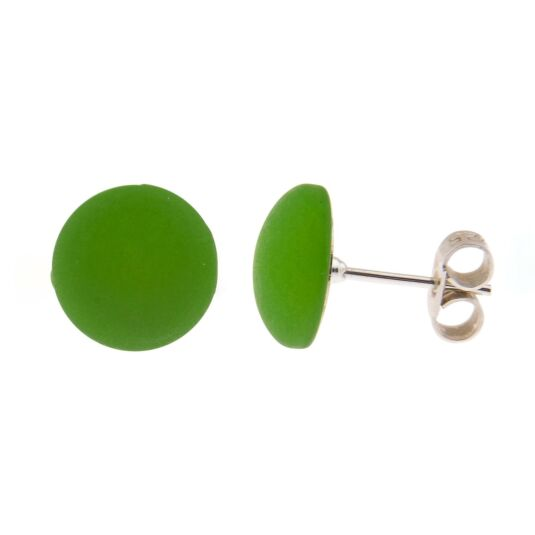 Green Polaris Stud Earrings