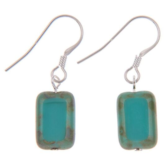 Picasso Rainbow Turquoise Earrings