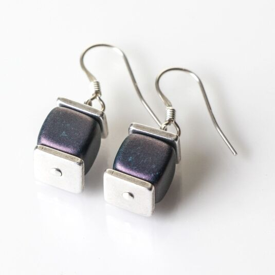 Grey Green Deluxe Earrings
