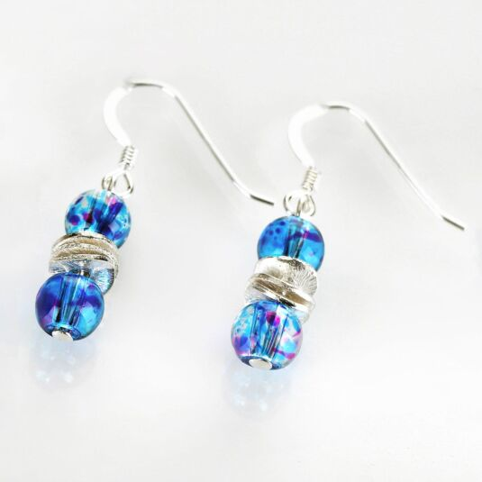 Turquoise Splashes Earrings