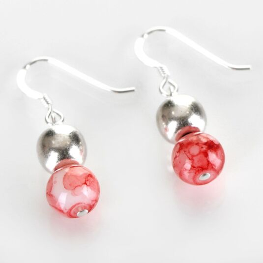Coral Marbled Earrings