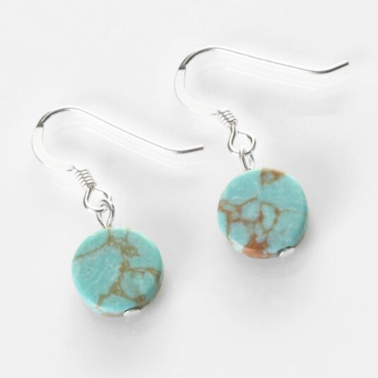 Turquoise Mosaic Coins Earrings