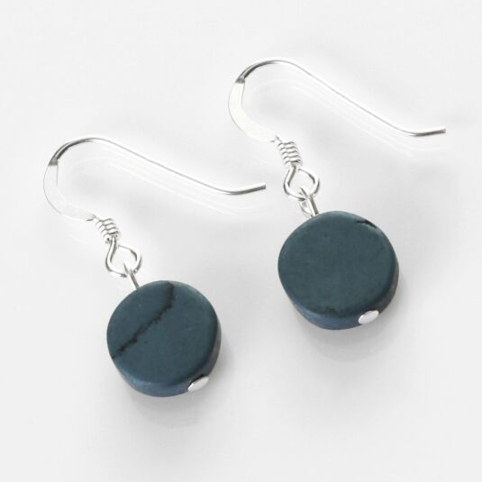 Denim Mosaic Coins Earrings