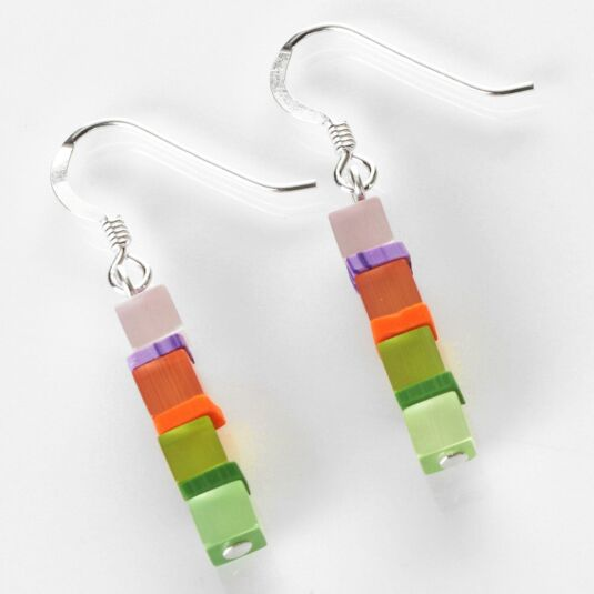 Day-time Cats Eye Multicoloured Earrings