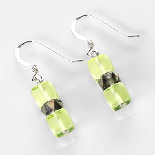 Yellow Sparkle Earrings