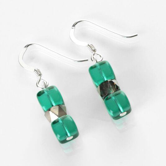Teal Sparkle Earrings