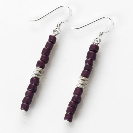 Purple Aztec Earrings