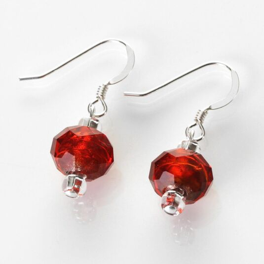 Red Autumn Radiance Earrings