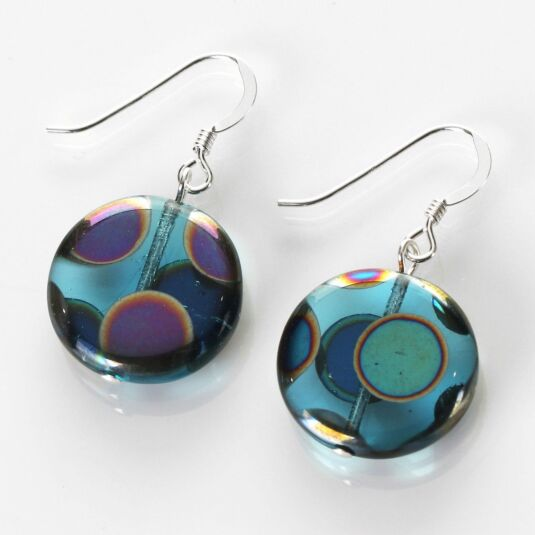 Turquoise Dotty Puddles Earrings