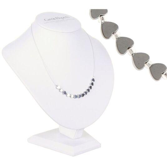 Mini Hematite Heart Necklace