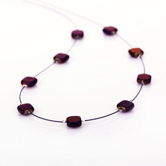 Purple Nefertiti Necklace