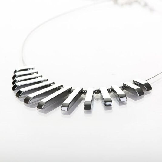 Silver Haematite Collar Necklace