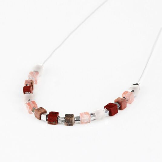 Coral Semi Precious Tones Necklace