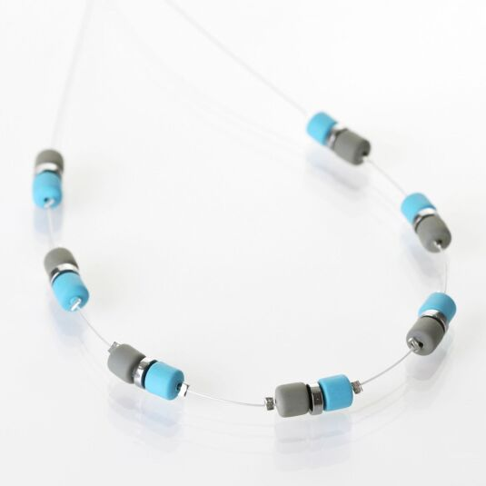 Blue Grey Earthtones Necklace