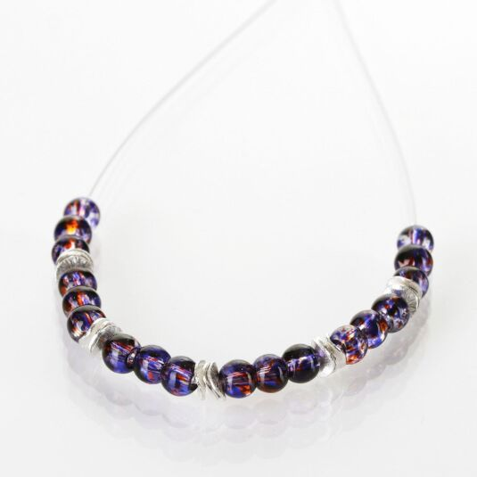 Purple Splashes Necklace