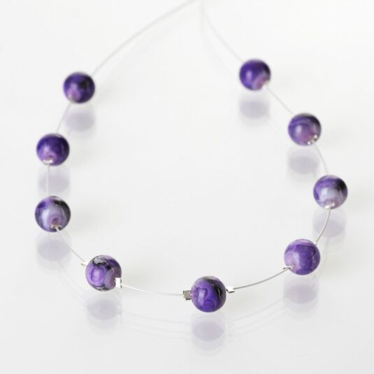 Purple Marbled Necklace