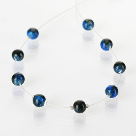 Cobalt Marbled Necklace
