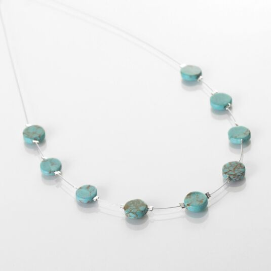 Turquoise Mosaic Coins Necklace